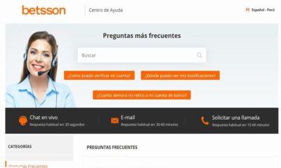 Atención al cliente de Betsson Perú